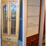 Curio Cabinet into Built-in Bathroom Storage