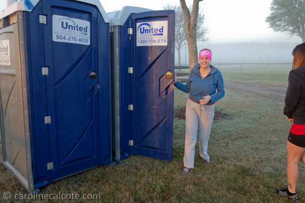 I am still grimacing from the port-o-potty's lovely aroma.