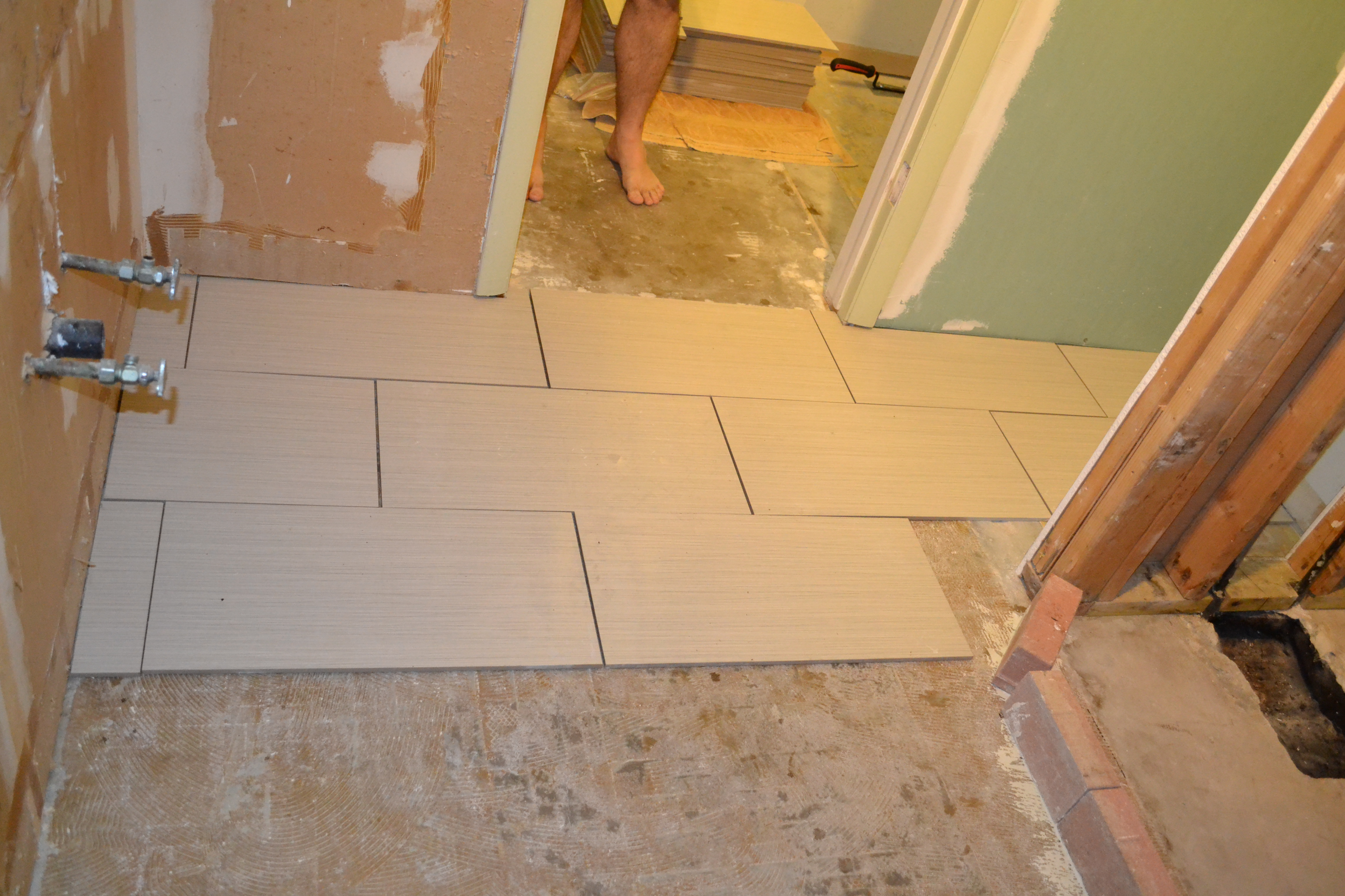 Fantastic Bath Shower Tile Designs Tiny Cleaning Bathroom With Bleach And Water Square Kitchen Bath Showrooms Nyc Apartment Bathroom Renovation Young Mediterranean Style Bathroom Tiles BlueGrey And White Themed Bathroom The NeverEnding (Bathroom) Story | Pardon Our Sawdust