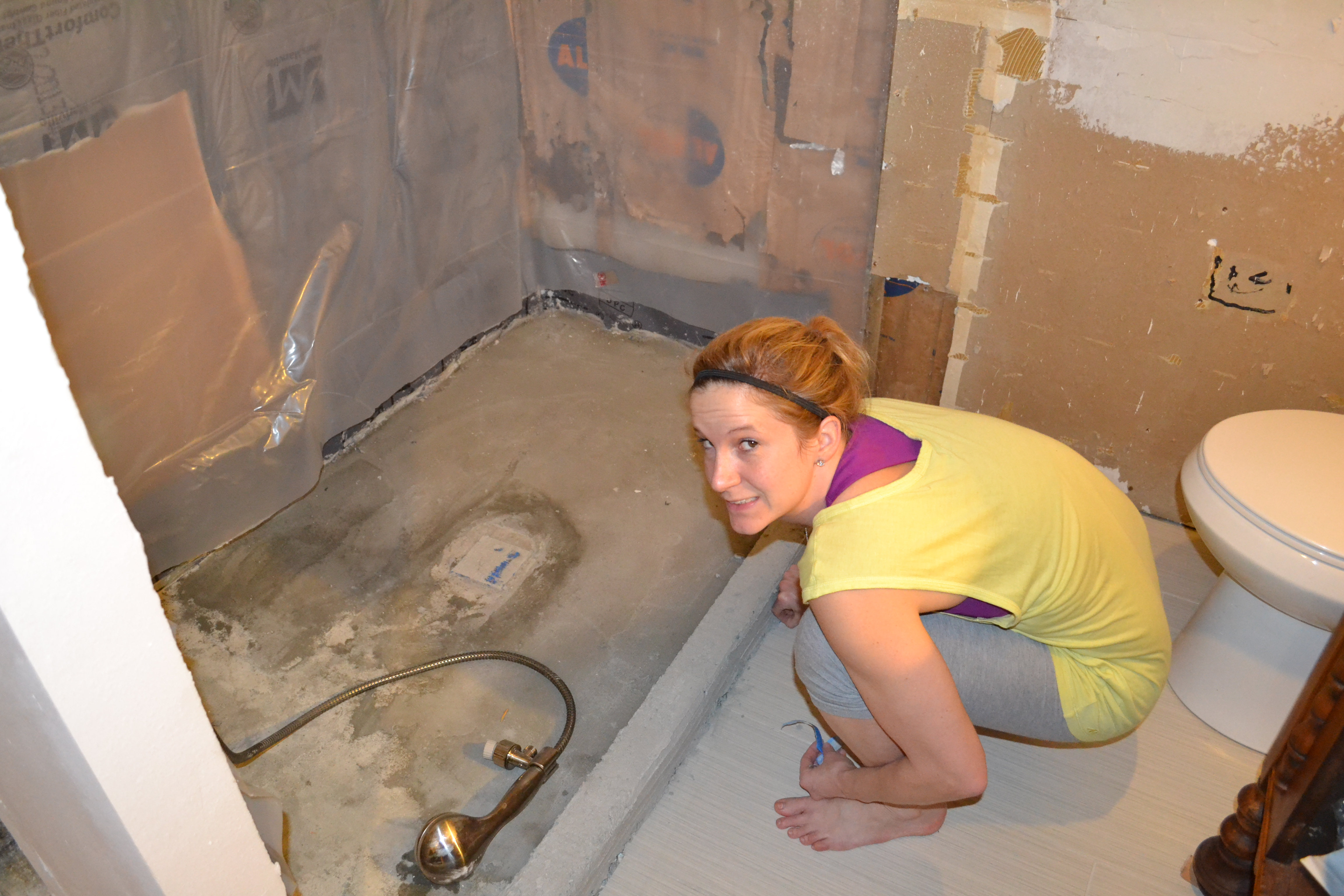 Pictures of a Girl Tiling a Shower | Pardon Our Sawdust